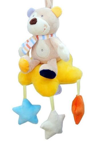 Infant Baby Bed Crib Soft Animal Monkey Bear Owl Rattle Plush Stroller Hand Bell