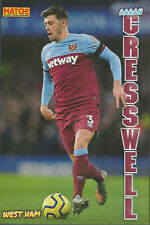 MATCH!-POSTER 2020-21-WEST HAM UNITED /& ITALY-JUVENTUS-TORINO-ANGELO OGBONNA