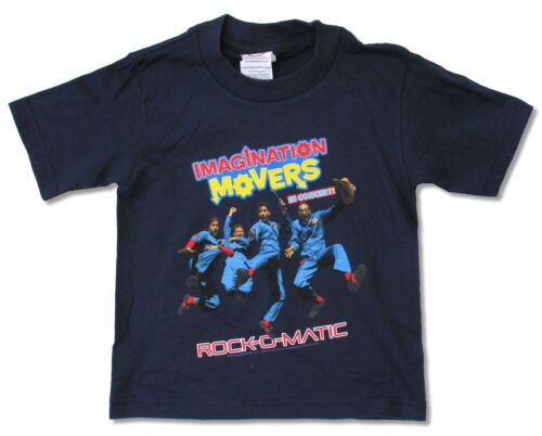 ROCK-O-MATIC 2012 TOUR NAVY BLUE T-SHIRT NEW KIDS TODDLER IMAGINATION MOVERS