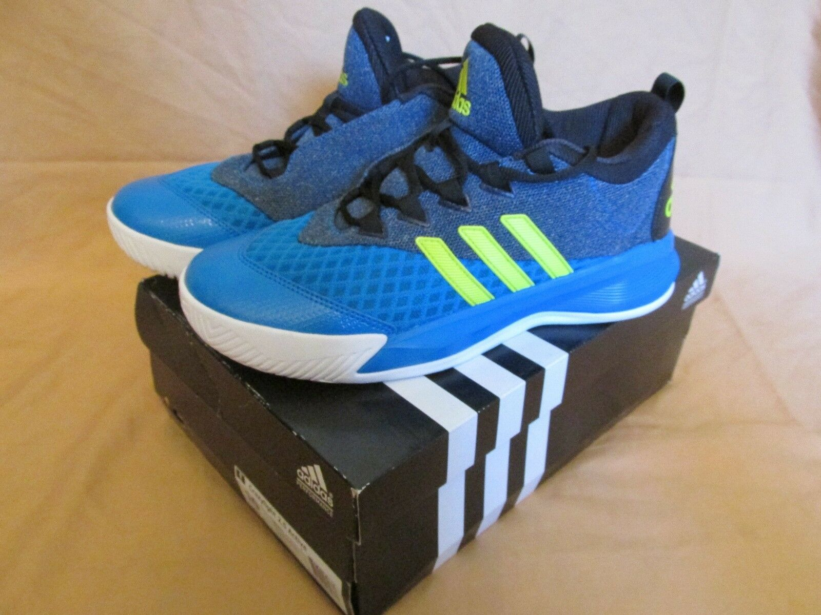 Adidas Crazylight 2.5 Active Blue & Neon Men's Basketball Shoes Trainers AQ8597