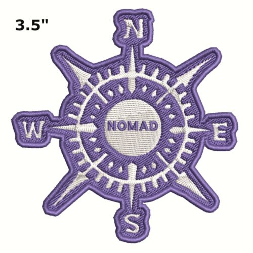 Compass NOMAD Embroidered Patch Iron-On Souvenir Travel Nature National Parks