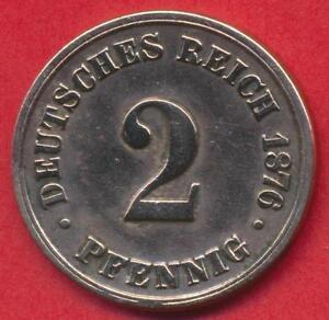 Münze Deutsches Reich 2 Pfennig 1876 B Ebay
