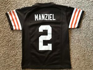24d64f4e5ae Cleveland Browns Johnny Manziel  2 NFL Nike On Field Jersey Youth ...