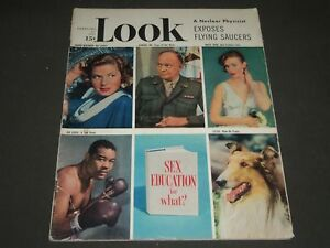 1951 FEBRUARY 27 LOOK MAGAZINE - JOE LOUIS LASSIE COVER - ST