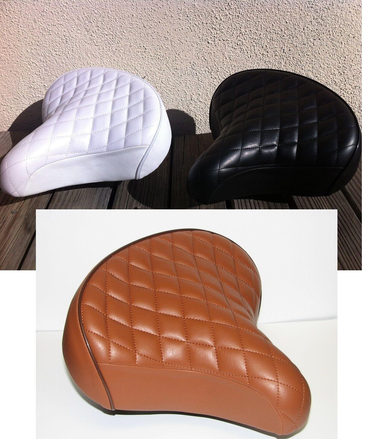 "BICYCLE BEACH CRUISER SEAT 10/"" X 10/"" DIAMOND TREAD BLACK or WHITE or BROWN NEW!"