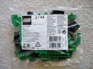 LEGO-My-Own-Train-Rare-3744-Locomotive-Green-Bricks-New-bag-has-small-tear