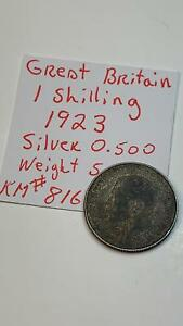 1923-Great-Britain-Shilling-Silver-Coin-KM-816