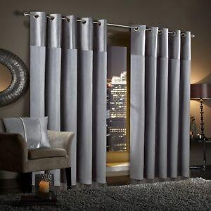 GRAN-RENO-Silver-Grey-Crushed-Velvet-Curtains-PAIR-Eyelet-Ring-Top-Fully-Lined