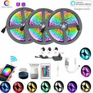 15M-10M-5M-Smart-Wifi-RGB-LED-5050-Streifen-Stripe-APP-fuer-Alexa-Google-Home