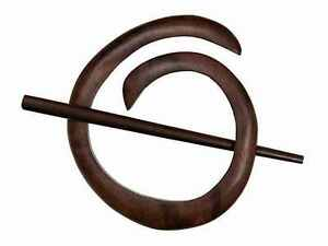 Buttons-etc-Paradise-Exotic-Shawl-Pin-40801-Tiger-Ebony-Spiral