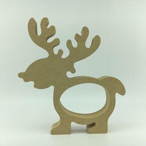 Cute Reindeer Kinder Egg Holder  Pack of 5 Freestanding Christmas Xmas MDF