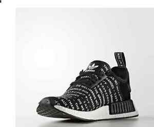 ad7a1745c5230 Adidas NMD R1 3 Stripes Blackout Size 4   10.5 Men s S76519 Black