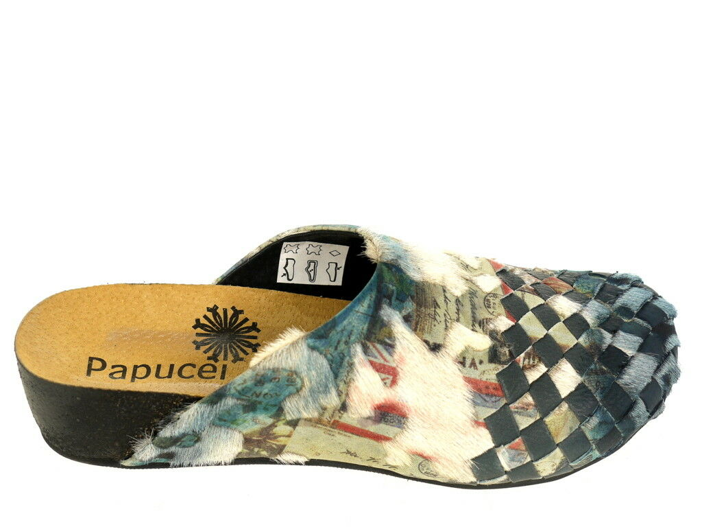 Papucei Schuhe Pantolette Ioanida Gr. 38 Original Neu und OVP blau multi