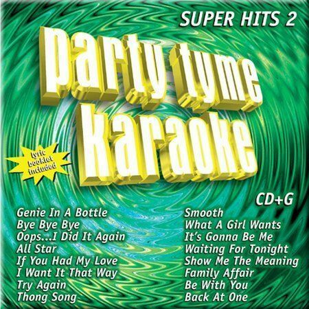 Various Artists : Party Tyme Karaoke: Super Hits 2 CD NEW UNOPENED