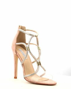 Cape Robbin Yuki-28 Rose Gold Open Toe Clear Strap Rhinestone Prom ... 541f3640f0