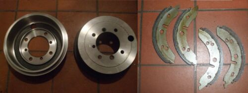 """* 7/"""" Drums * 1948-62 Only x2 MORRIS Minor    FRONT Brake Drums /& Shoes"""