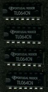 Lot De 4 X Tl064cn - Texas Instruments - Amplis Op J-fet Neufs Nos Lpqlnawr-07184937-681010139