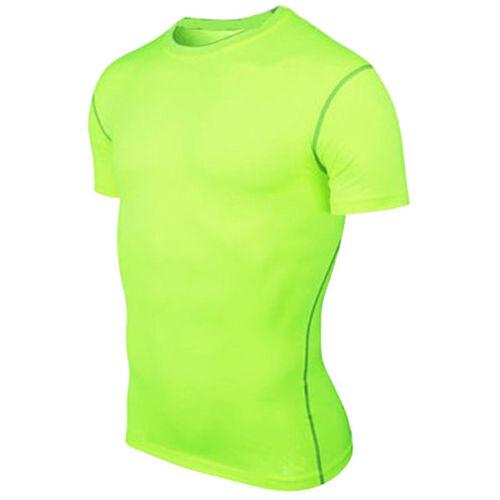 Mens T Shirt Compression Short Sleeve Workout Slim Fit Base Layer Sport Thermal