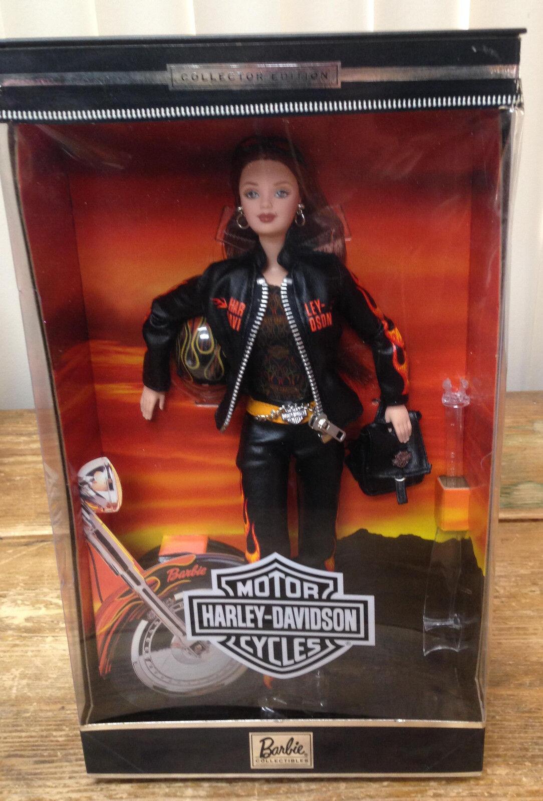 Harley-Davidson Barbie 5 2001 Puppe Motorrad Motorrad Puppe Brunette Mattel 29207 Neu in Karton 9f5e4d