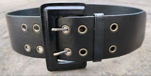 M-L-Extra-Wide-Black-Faux-Leather-Belt-womens-with-large-oblong-buckle