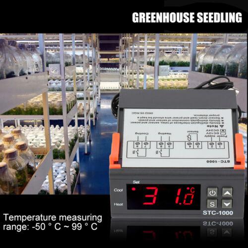 STC-1000 Refrigeration Defrosting Temperature Controller 220V 110V 24V 12V Lot