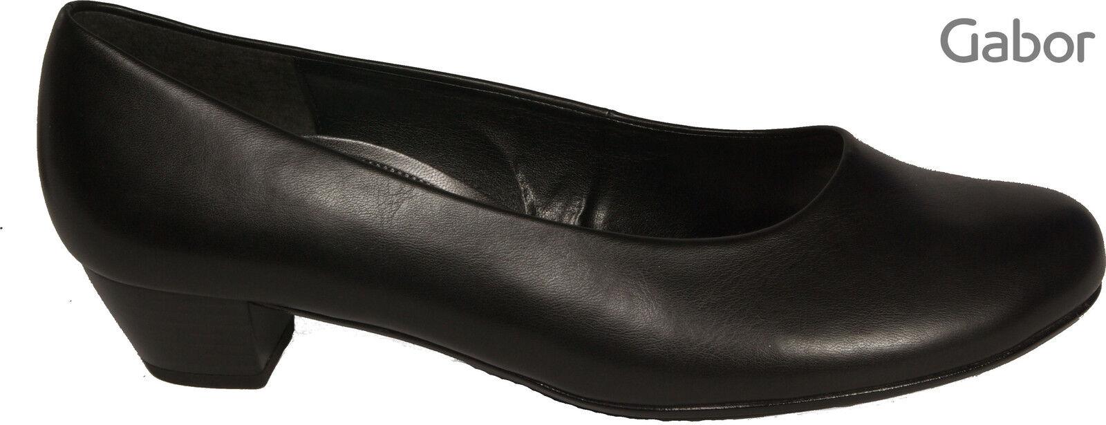 GABOR Schuhe Pumps schwarz H-Weite Absatz 35 mm NEU