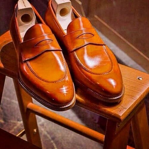 New for Sie handmade loafer genuine leather schuhe