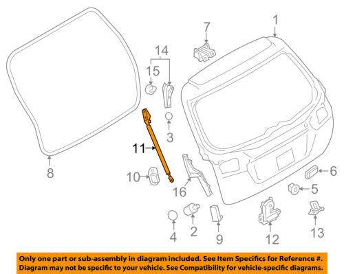 SUBARU OEM Liftgate Tailgate Hatch Trunk-Lift Support Strut Shock 63269AL01A