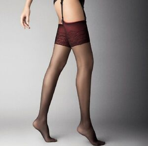 2330980d12f Image is loading Black-Matte-Stockings-Red-Top-034-Cancan-034-