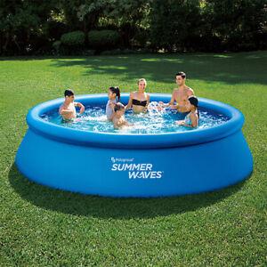 Summer-waves-quick-set-pool-396-x-84-cm-Inkl-Filterpumpe-Filterkartusche-Pool