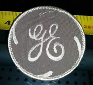 """NOS    GRAY 3""""  General  Electric  GE  logo   Embroidered Patch"""