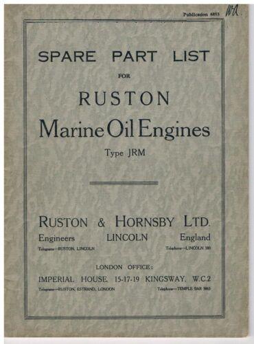 Marina Ruston /& Hornsby JRM Lista de piezas