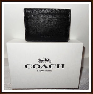 1ad690eb8d6b4 Coach F75459 Mens Money Clip Card Case Leather Mahogany for sale ...