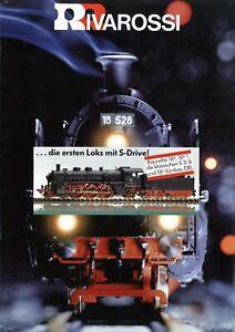 Rivarossi-Prospekt-1980er-Modelleisenbahn-Modellbahn-brochure-model-railway