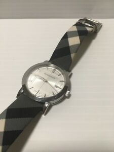 97783be09910 Image is loading Authentic-Burberry-BU1378-Heritage-Stainless-Steel-Quartz- Watch-