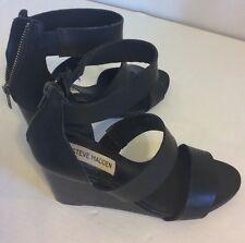 Women's STEVE MADDEN Wedge Open Toe Strappy Karen Shoe Size 8 GORGEOUS