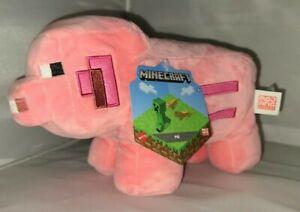 Minecraft Pig Plush 9 in (environ 22.86 cm) Authentique Mattel Mojang Plushie livraison gratuite