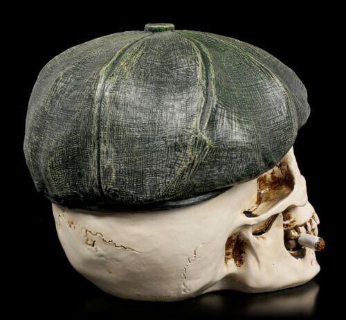 Gothic Totenkopf Gangster BossFantasy Skull Skulptur Totenschädel H 15 cm