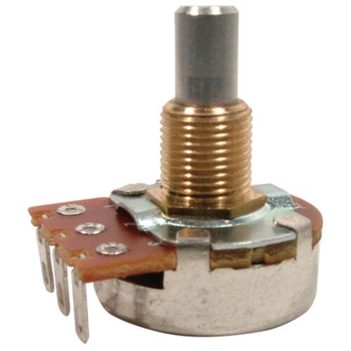 "Bourns Solid Shaft 3//8"" Bushing Potentiometer 500K Log//Audio"
