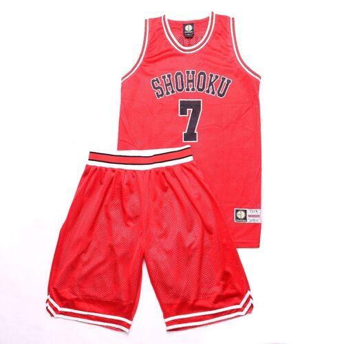 Red Miyagi Ryota Basketball Members Jersey Outfit Anime SLAM DUNK Costume Sets
