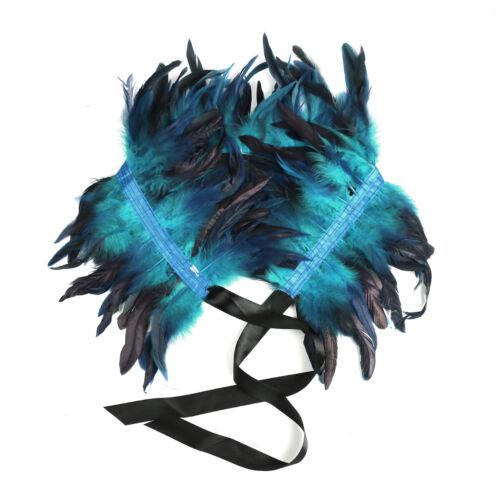 Gothic Feather Shrug Shoulder Wrap Cape Shawl Choker Fake Collar Poncho Scarves