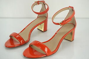 fdaeed17a Details about NEW Tory Burch Cecile 55 Sandals City Pepper Red Patent  Leather Orange Shoes 9.5
