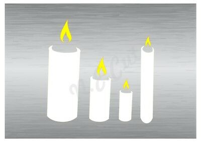 Christmas Candles Stencil 2 A5 To A0 14cm To 1.2 Meters Or Bigger Cmas066 Stevige Constructie