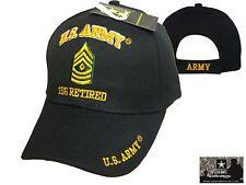 US Army 1SG RETIRED Ball Cap First Sergeant E-8 Korea Vietnam OEF OIF Vet Hat