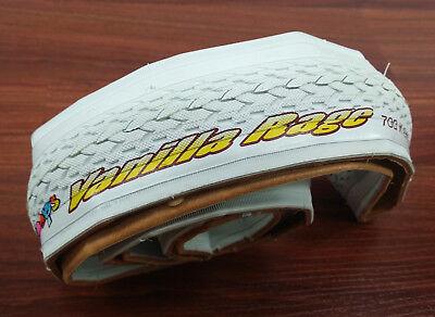 ANTI PUNCTURE White Folding Duro Fixie Pops 700 x 24 Road Bike Tire