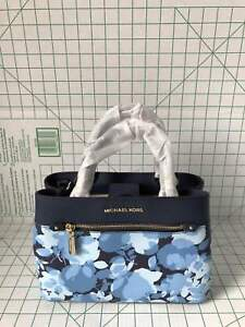 a5f817eece0beb NWT Michael Kors Hailee XS Satchel Floral Small Crossbody Navy | eBay