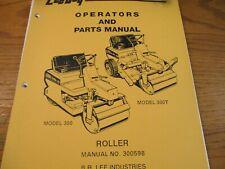 Leeboy Model 300 300t Roller Operators Parts Manual