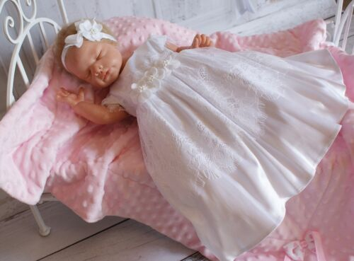Taufkleid Festkleid Taufgewand Kleid Taufe Hochzeit Babykleid Taufset Nr.0ta21