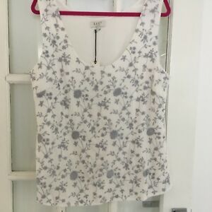 John Camisole Ivory Lewis Embroidery East Size Bnwt Top Grey Medium With RxSdc