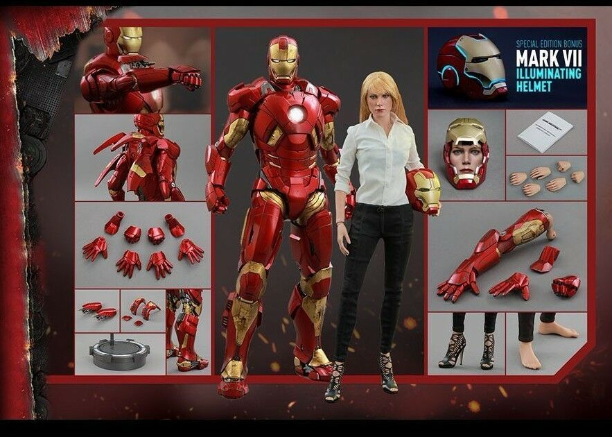 Hot Toys 1 6 Iron Man 3 Mark IX (9) & Pepper Potts Special Edition MMS311